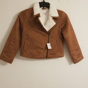 Children's Place Faux Suede Jacket Size M